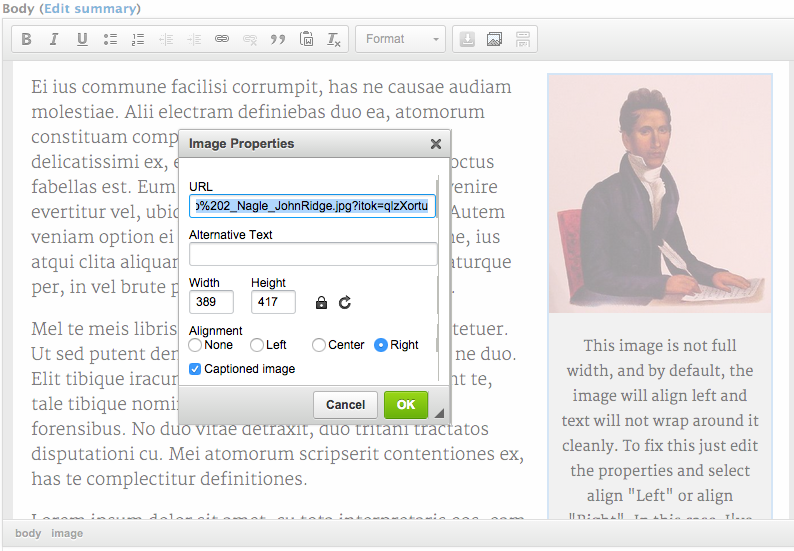 CKEditor Image2 - Enhanced Image plugin with HTML5 caption support