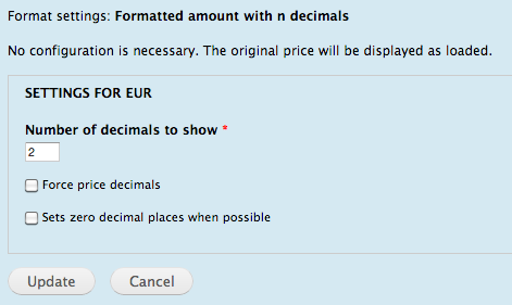 commerce price decimals formatter drupal org