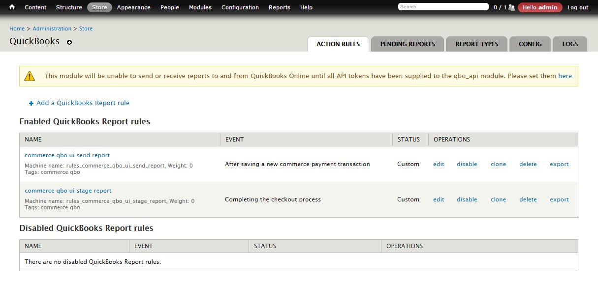 Commerce Quickbooks Online UI | Drupal org