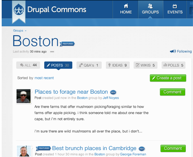 drupal commons themes