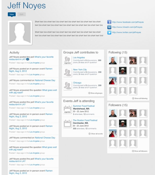 Commons User Profile Pages | Drupal.org