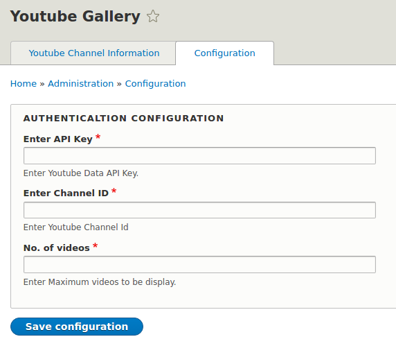 Youtube Gallery | Drupal org