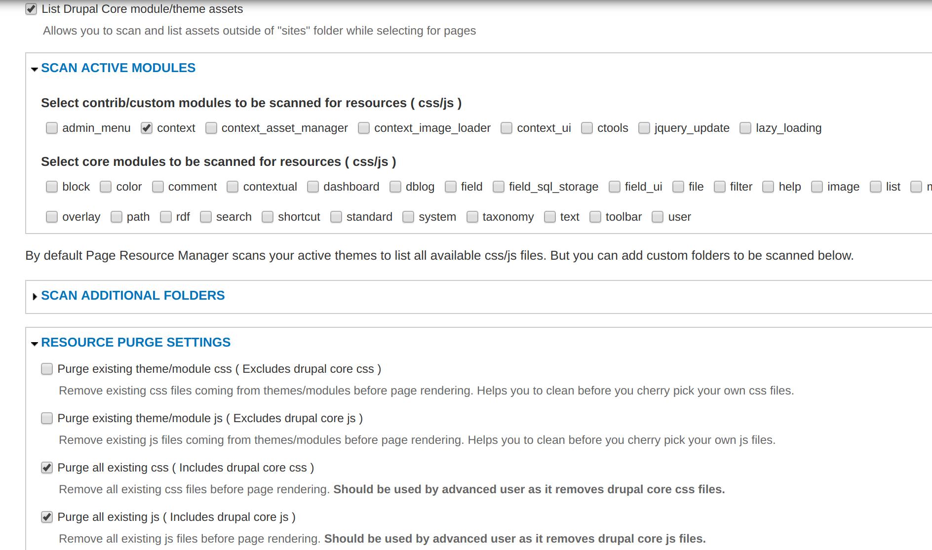 Context Asset Manager | Drupal org