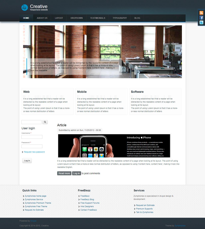 Creative Responsive Theme Drupal Org