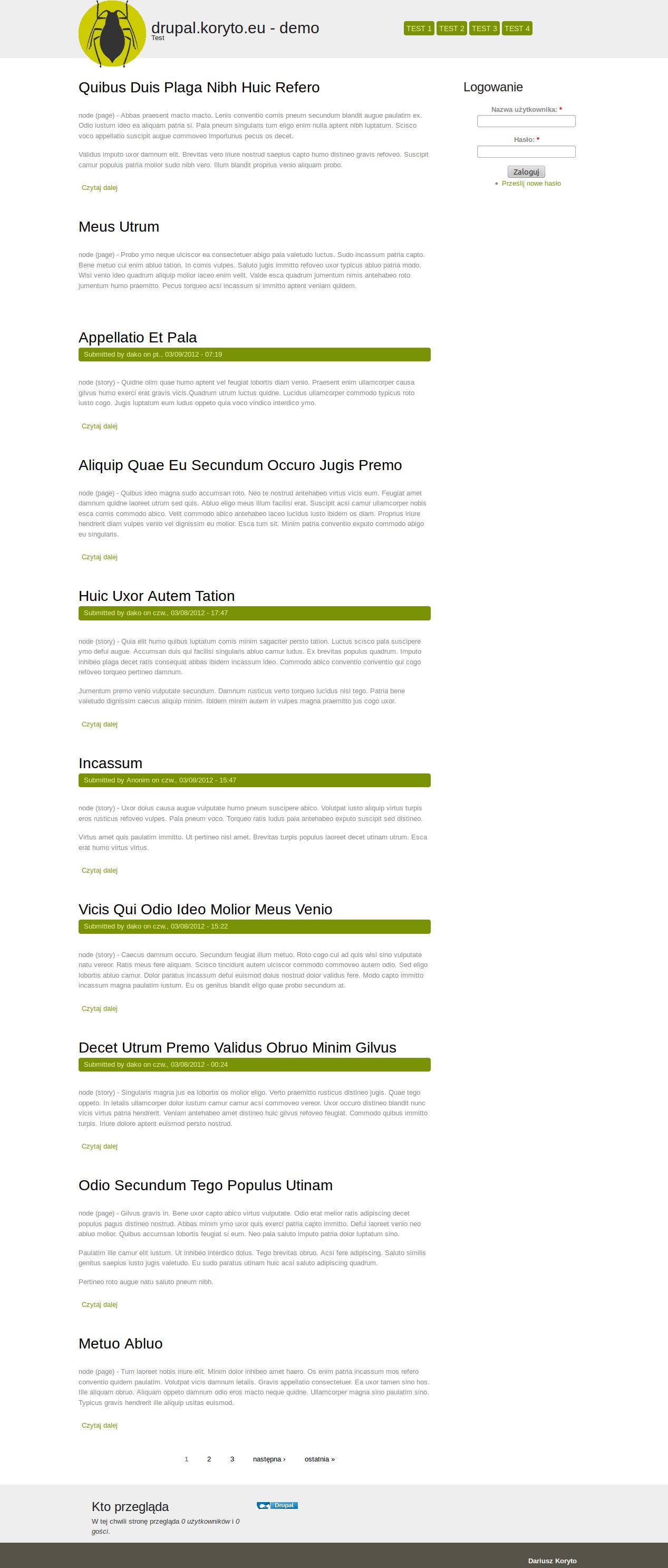 Green Worm | Drupal org