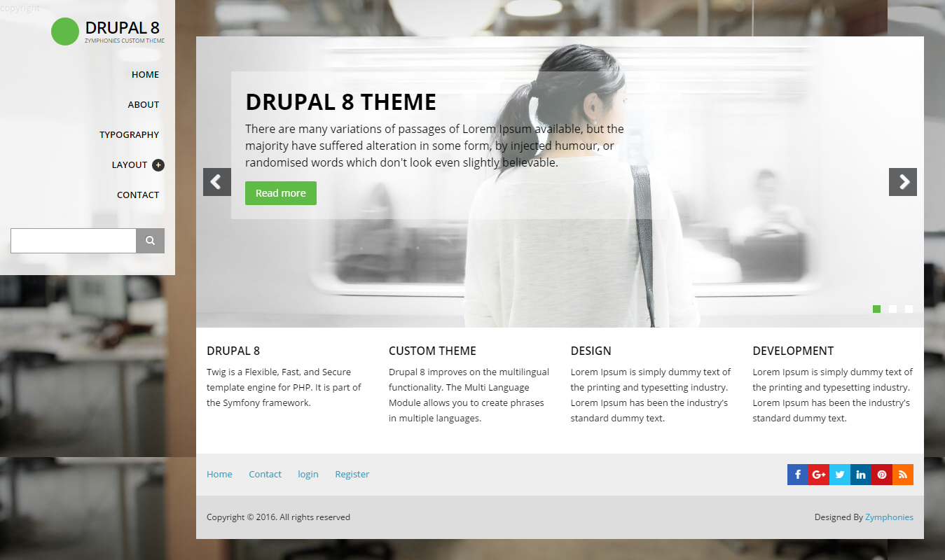themes in drupal 8