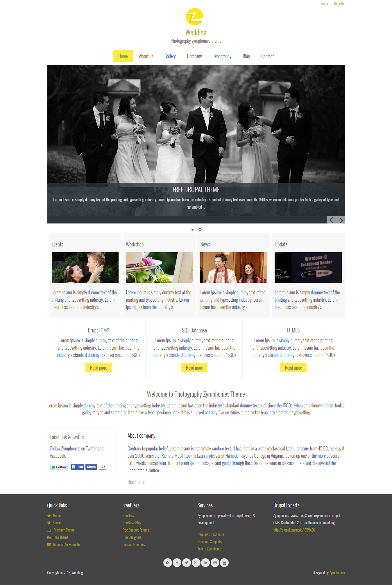 free drupal themes for photographers