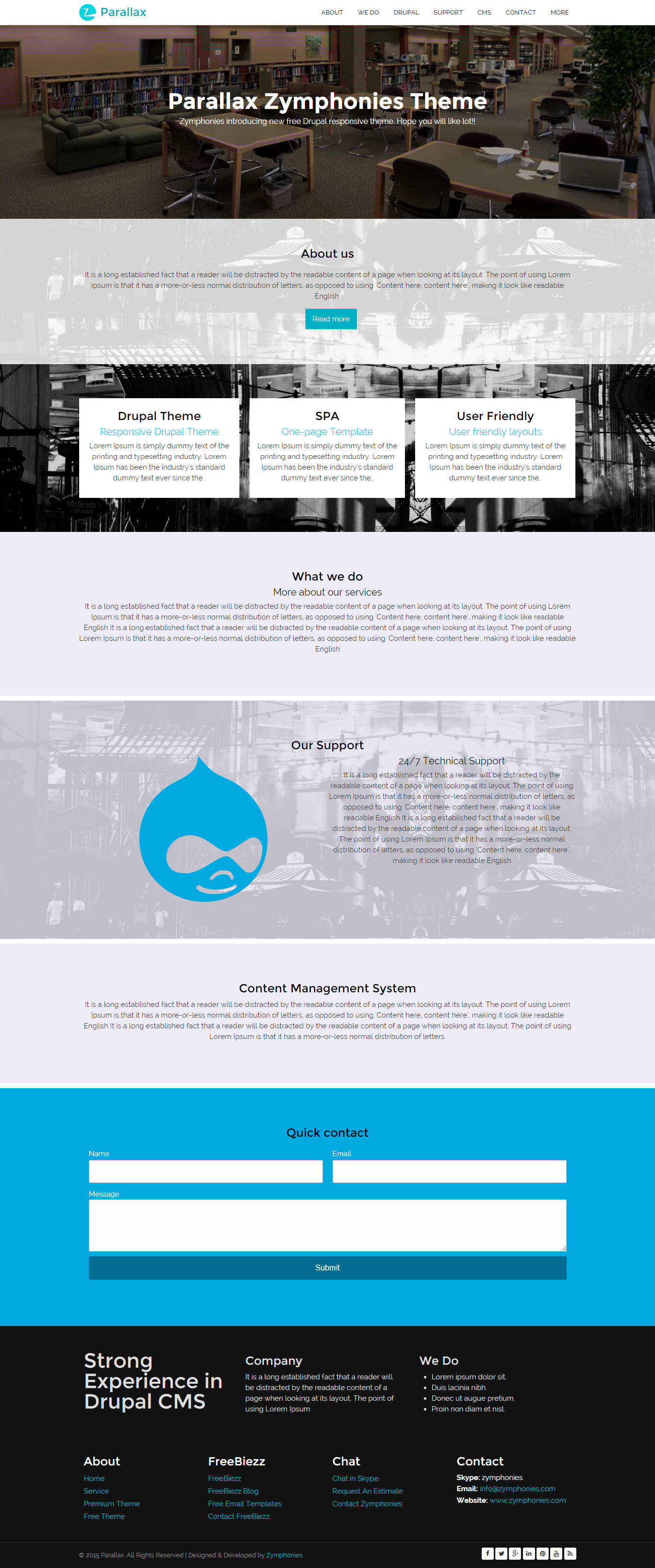 drupal parallax theme free download