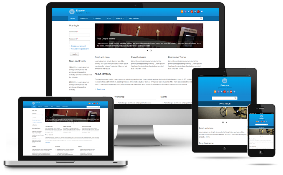 best responsive drupal themes free