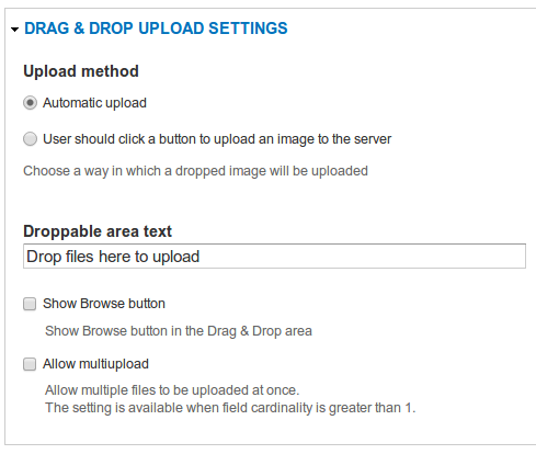 Drag & Drop Upload | Drupal org