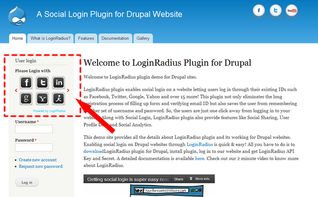 Social Login And Social Share Drupal Org