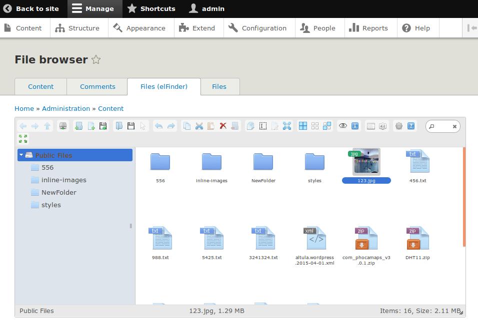 elFinder file manager | Drupal org
