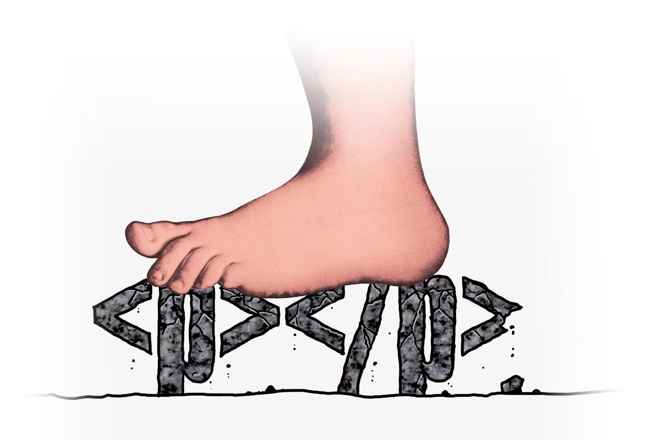 Python Foot Python's Ominous Foot