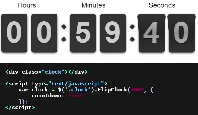 FlipClock js | Drupal org