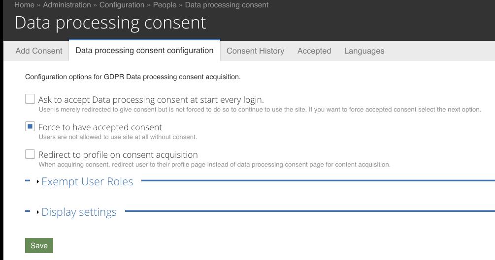 Gdpr Consent Drupal Org