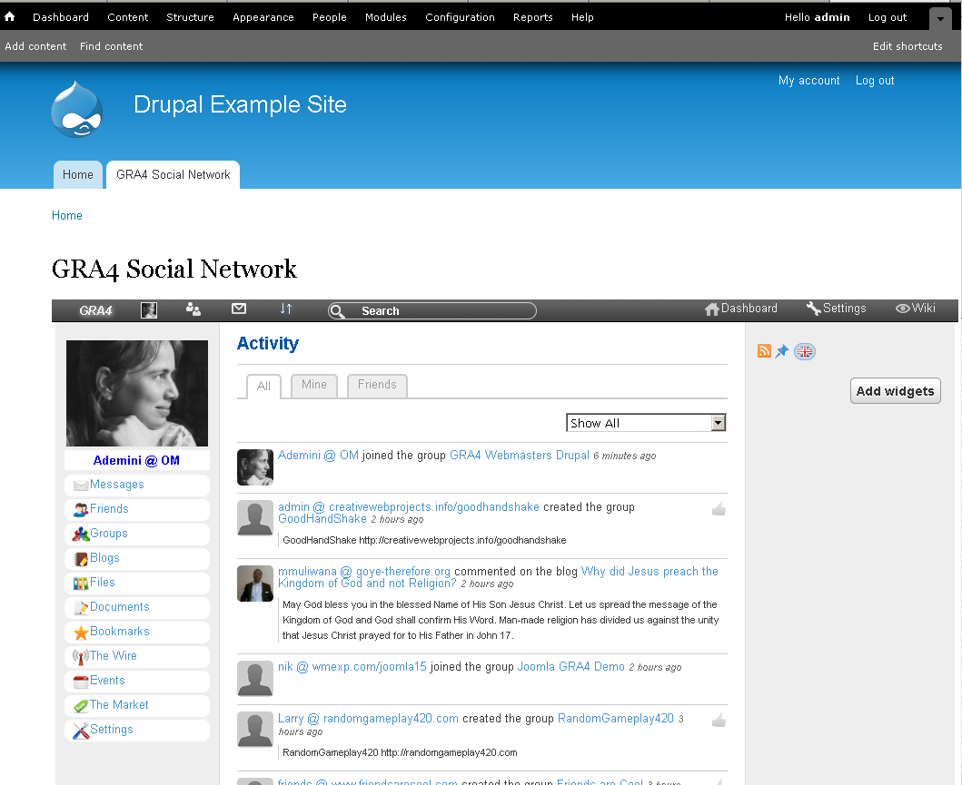 Social networks, blogs, groups: a selection of sites
