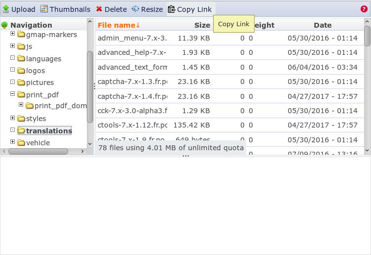 IMCE Copy Link | Drupal org