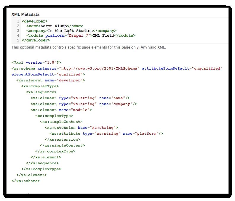 XML Field | Drupal org