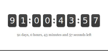 Countdown date timer online