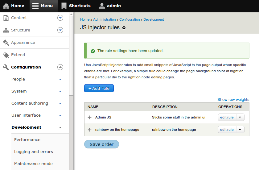 JS injector   Drupal org