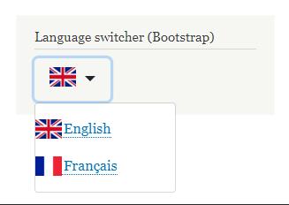 Languages Dropdown (Bootstrap) | Drupal org