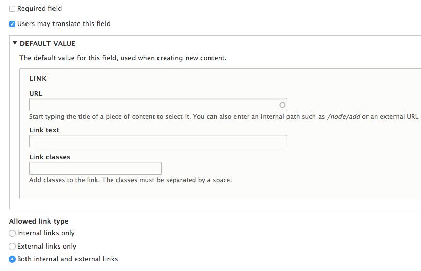 Link class   Drupal org