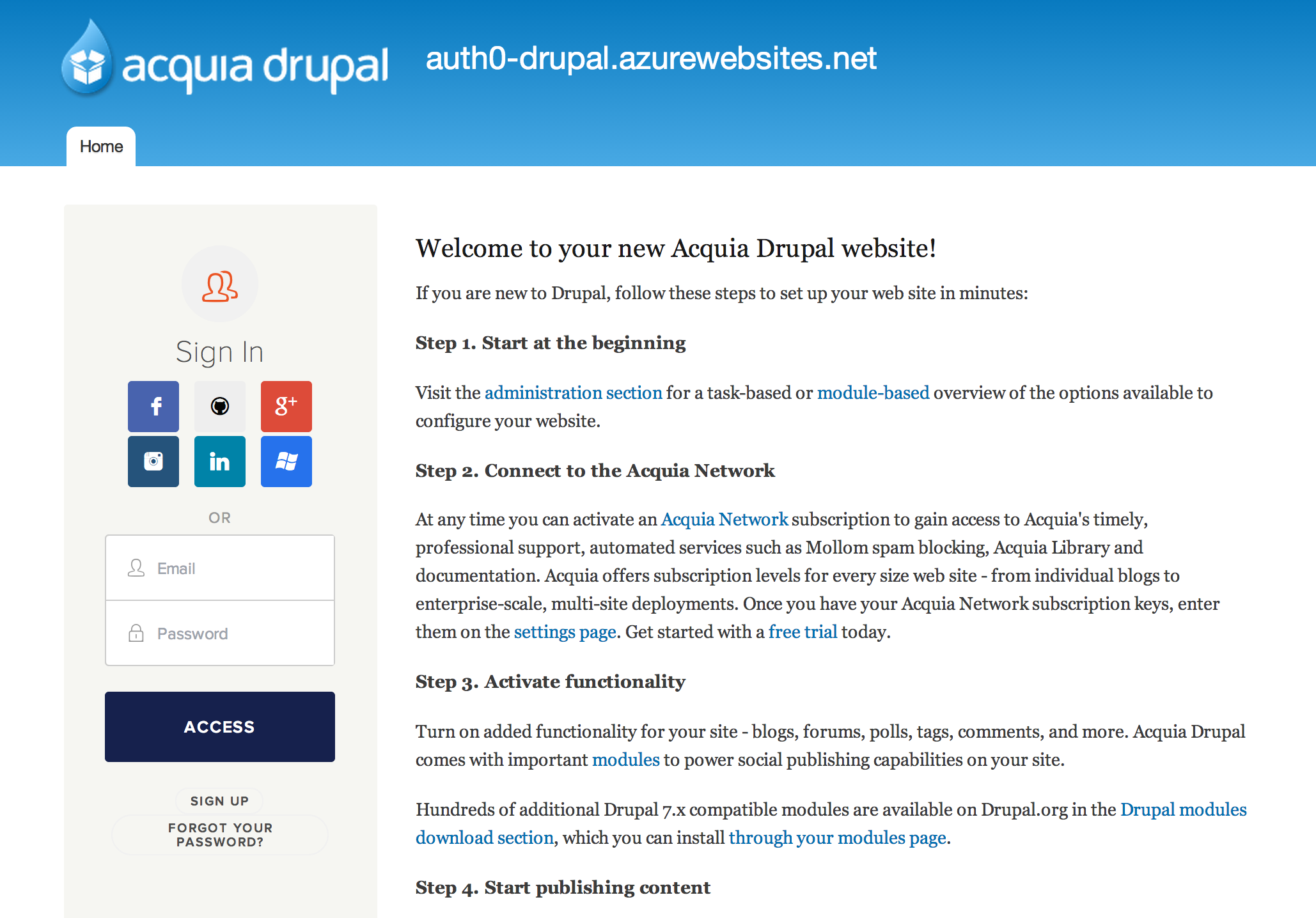 Single Sign On (Auth0) | Drupal org