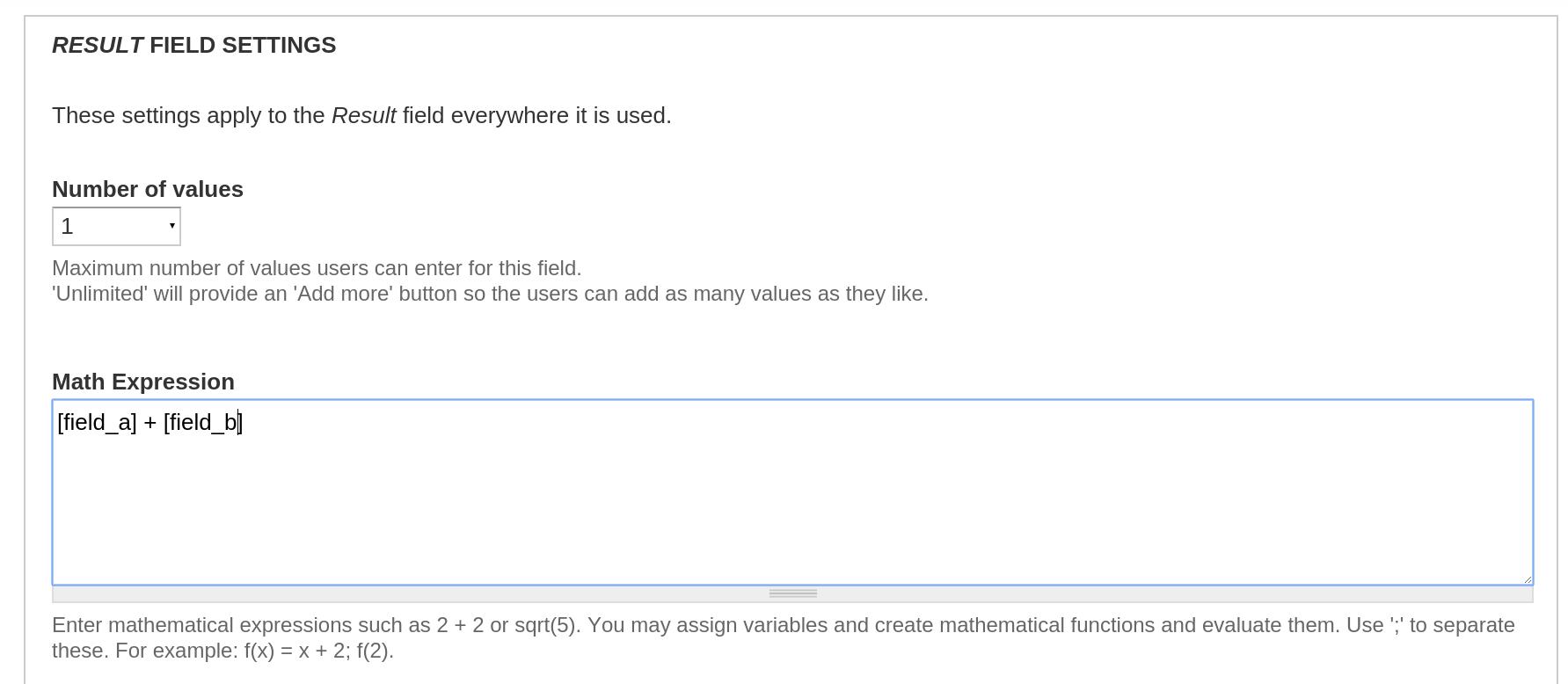 Math Field   Drupal org