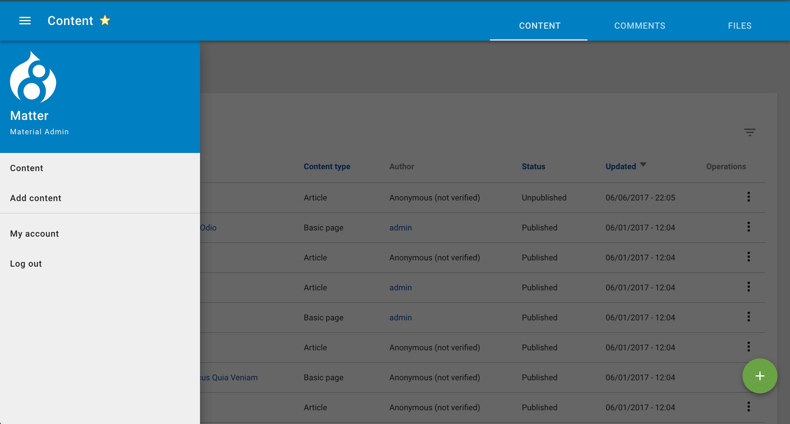 Material Admin Theme   Drupal.org