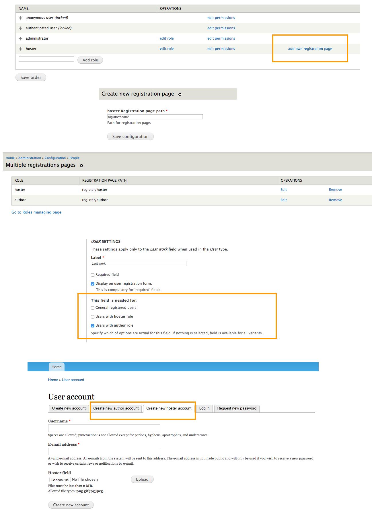 Multiple Registration Drupal