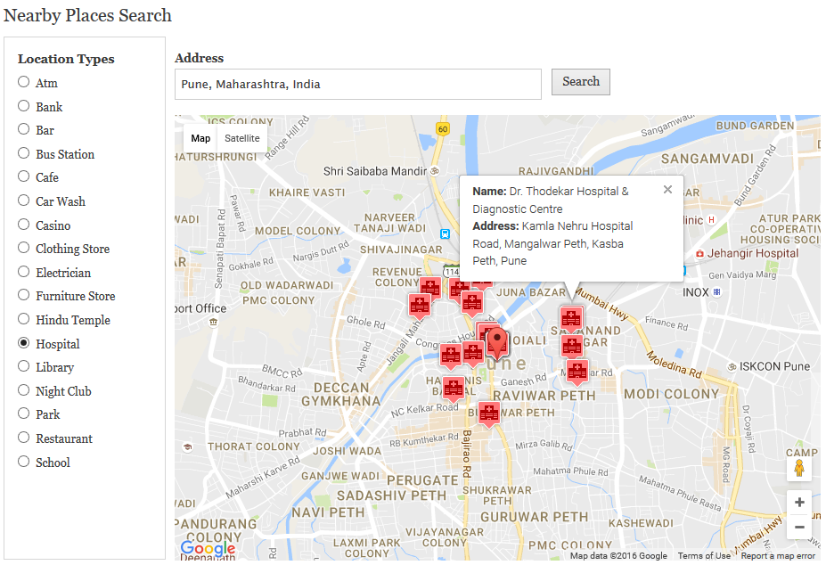 Nearby places search | Drupal org