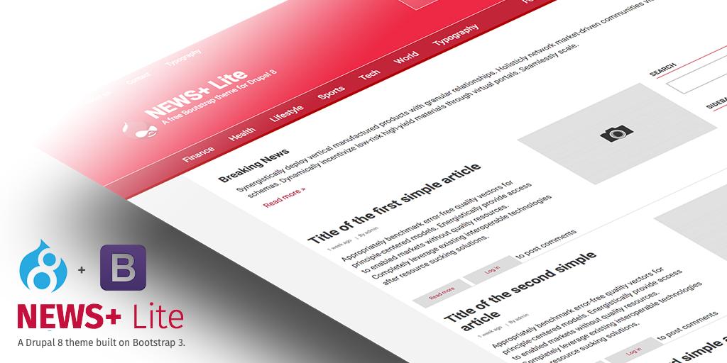 drupal theme news free