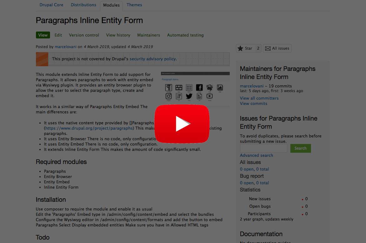 Paragraphs Inline Entity Form | Drupal org