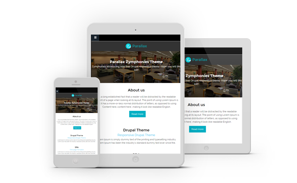 drupal themes parallax free