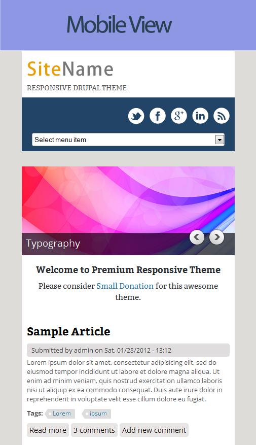 drupal themes mobile