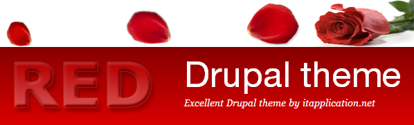Drupal theme red