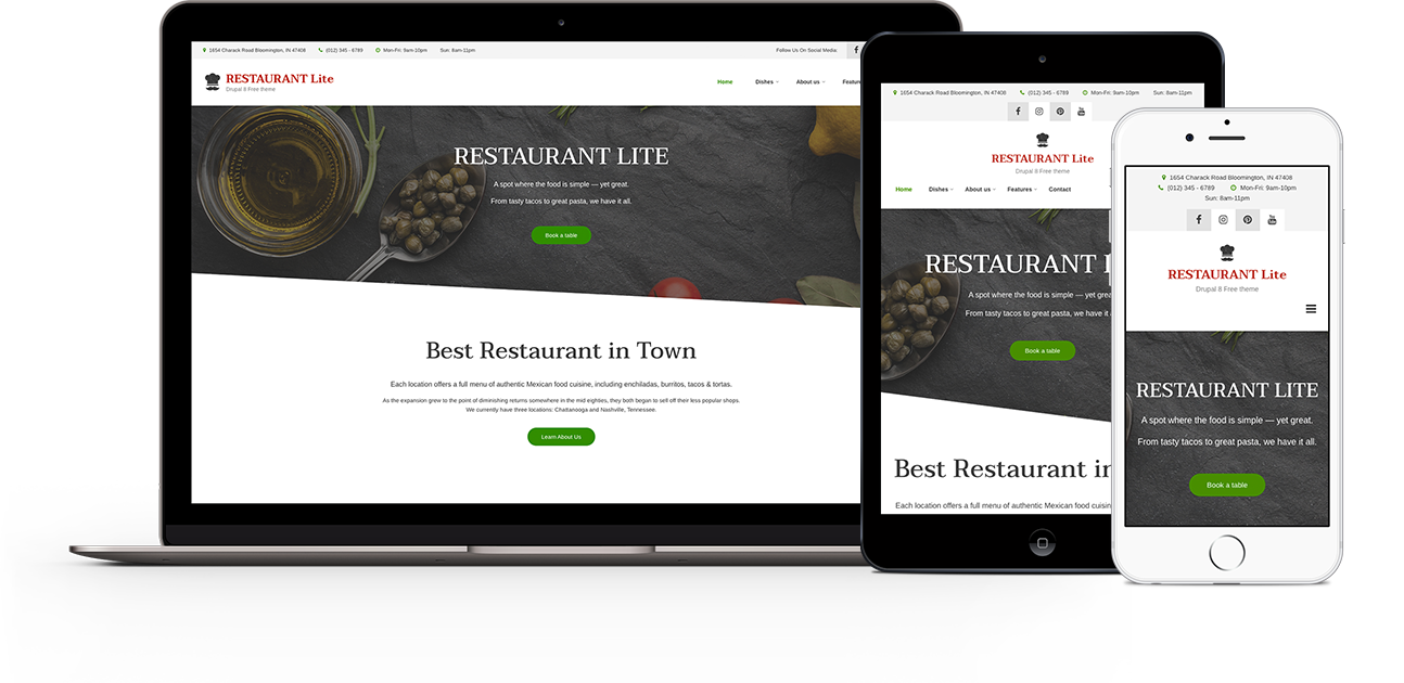 Restaurant Lite Drupal Org