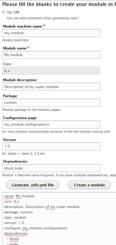 Module generator UI   Drupal org