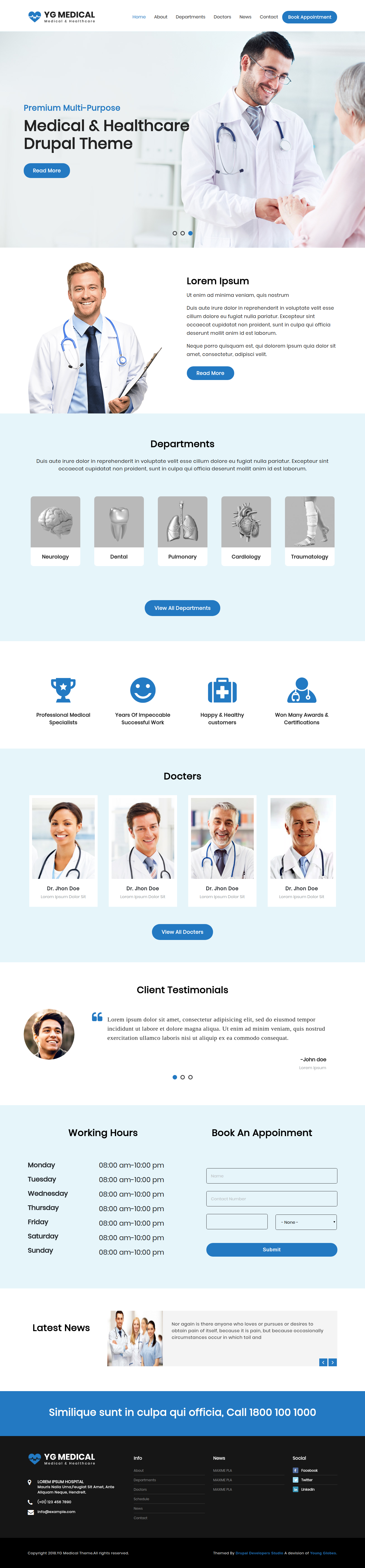 drupal themes healthcare