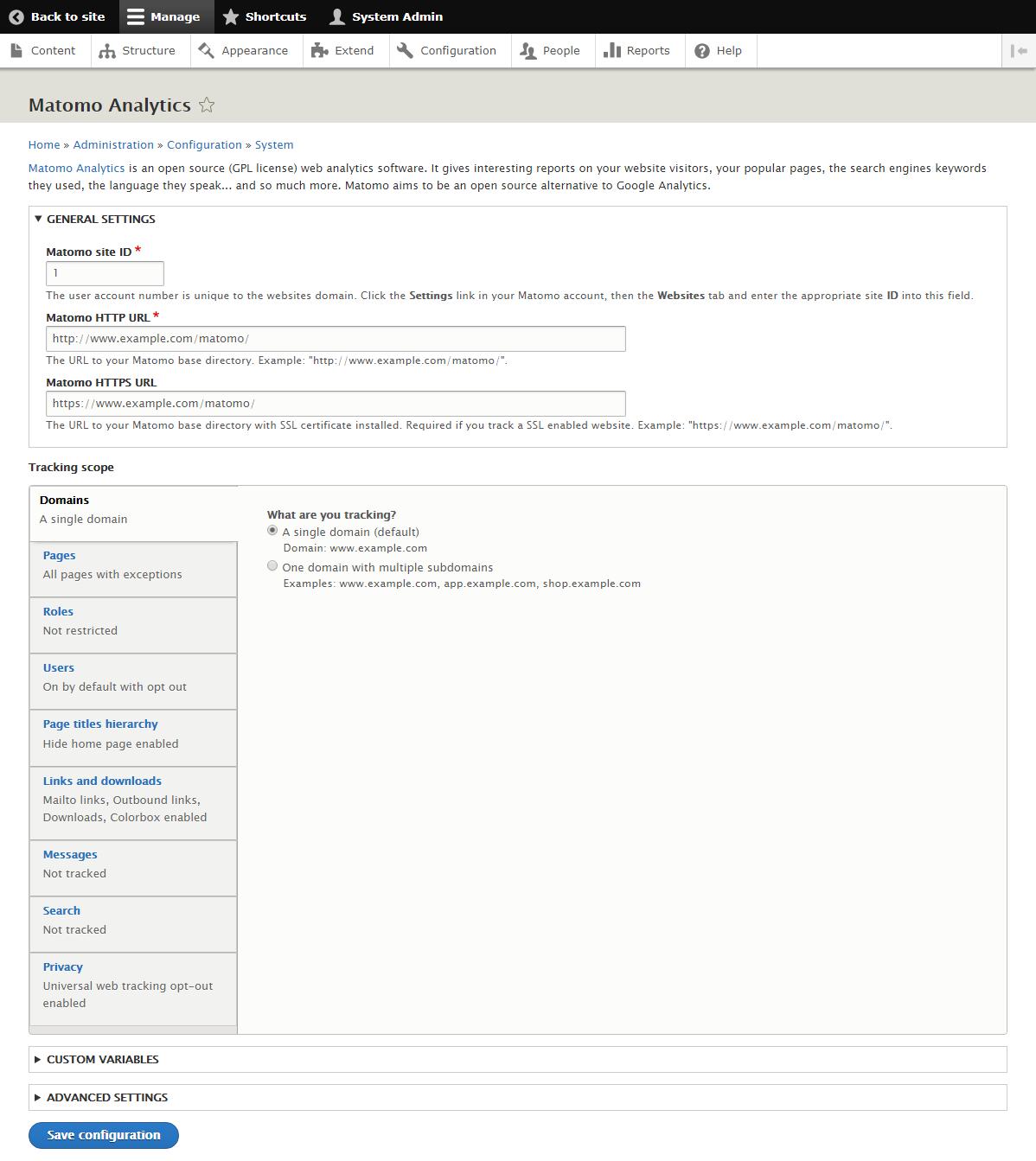 Matomo Analytics | Drupal org
