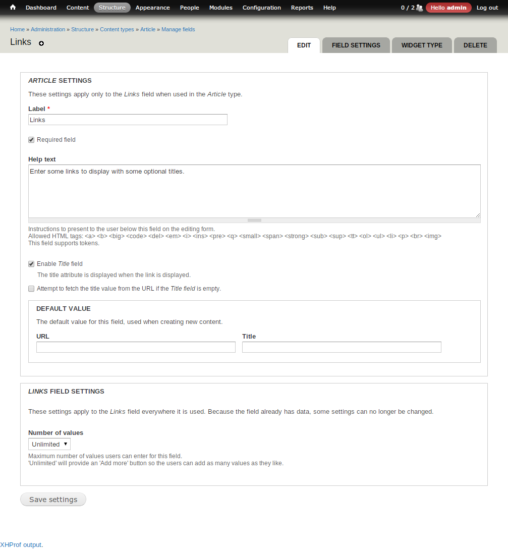 URL field | Drupal org