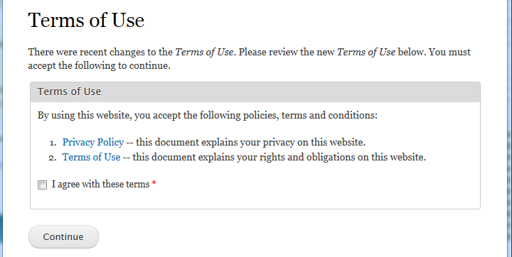 Terms Of Use And Privacy Policy Template Site Disclaimer