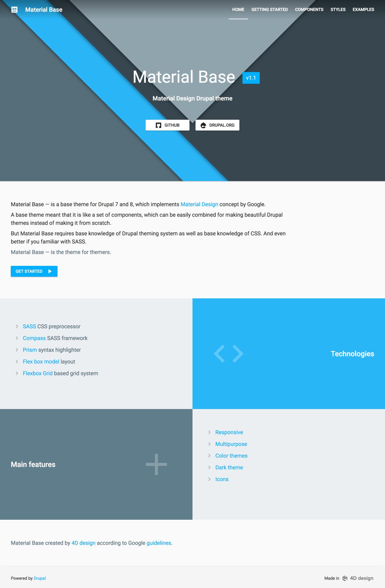 Material base | Drupal org