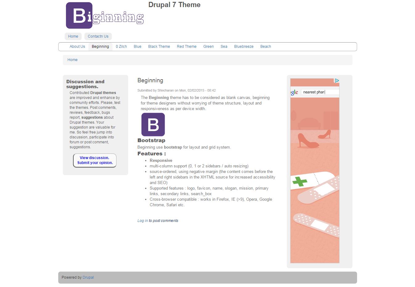 Google themes opera - Screenshot
