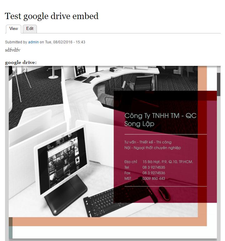 Google Drive Docs Viewer | Drupal org