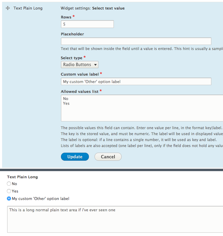 Select Text Value | Drupal org