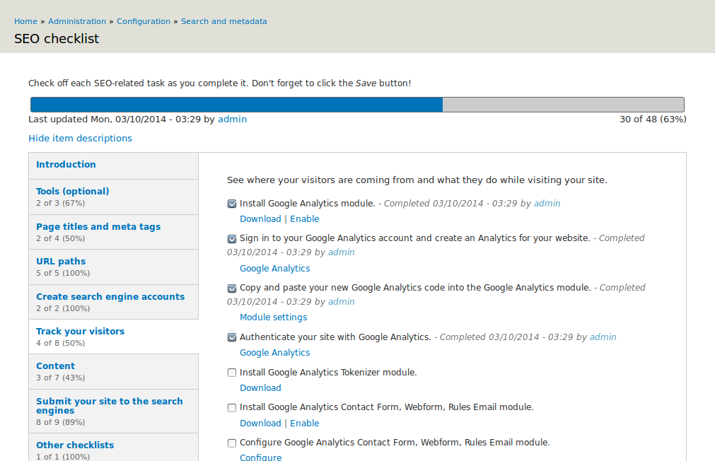 Seo Checklist Drupal