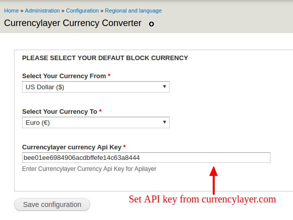 Currencylayer Currency Converter   Drupal org