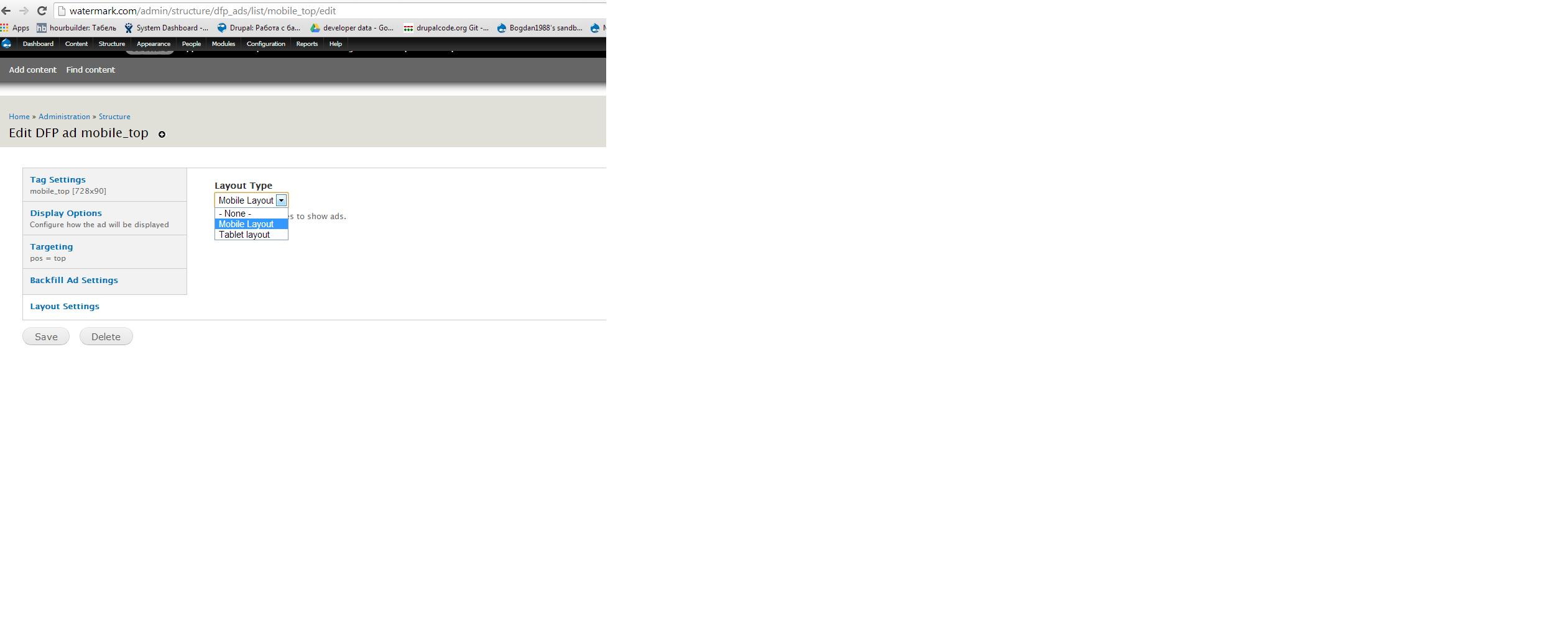 DFP responsive ads   Drupal org
