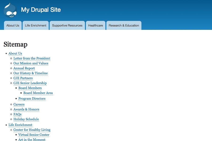 sitemap drupal org